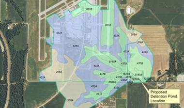 Southern Illinois Airport Stormwater Detention Design
